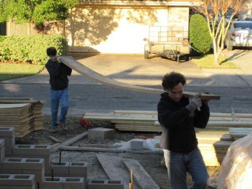 Adam and Sean moving board