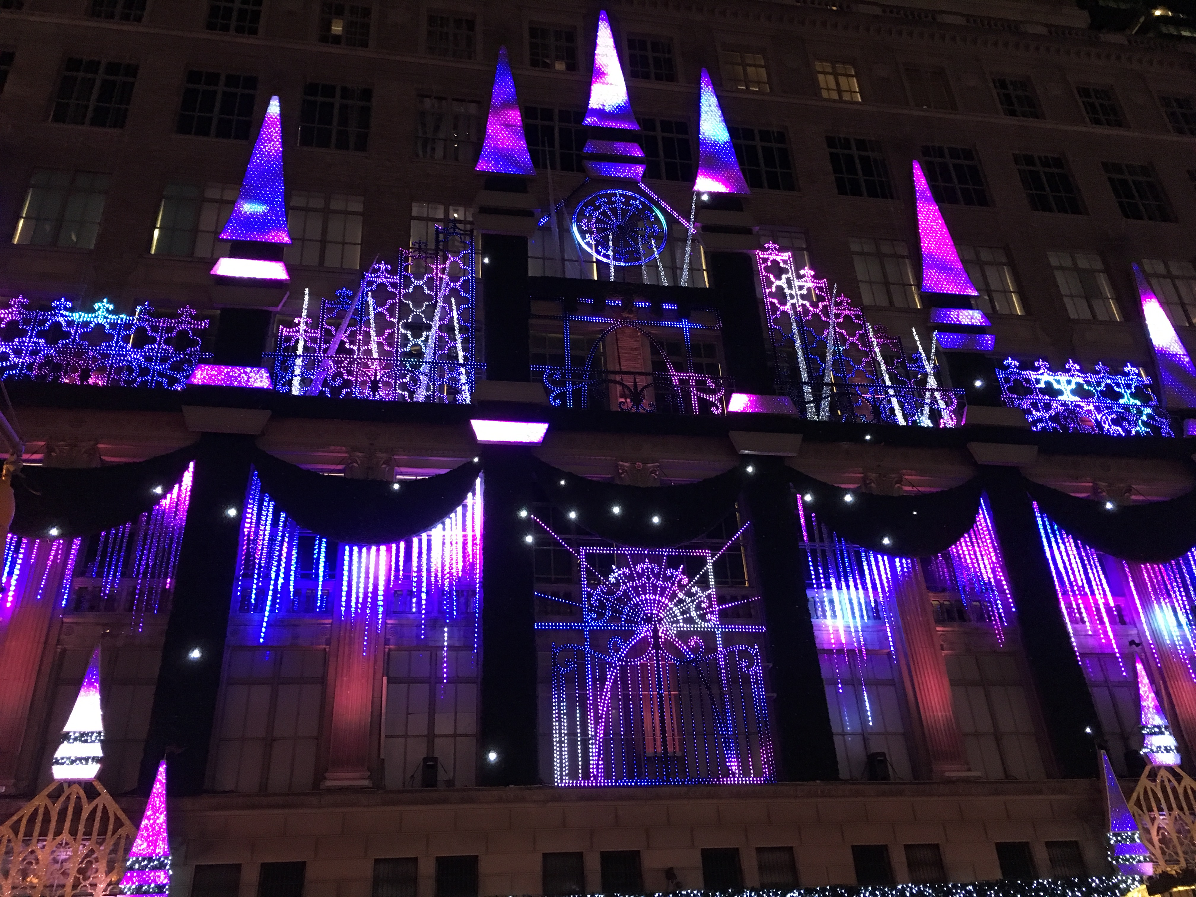 And We Allowed Some Time To Check Out Some Of The City Lights. Saks Fifth  Avenue Put On A Pretty Fair Show.